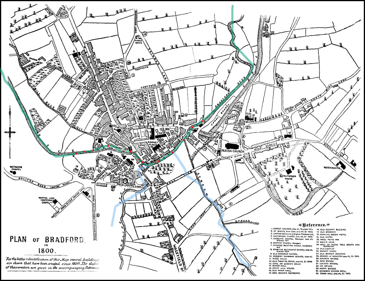 Early Bradford Beck map